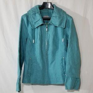 Per Una linen light spring teal jacket